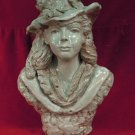 Bust of a Woman with Floral Hat, Delightful