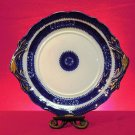 Vintage English Platter, Blue, White and Gold