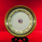 Haviland  Plate China  Floral Gold Accents