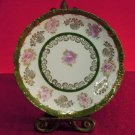 Antique  China Plate Floral With Gold