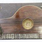 Antique Zither  Case  Handmade Quilt