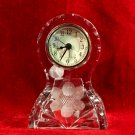 Crystal  Clock Fry Glass Company Floral Pattern