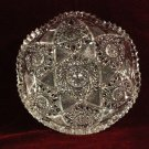 Vintage  Glass Bowl Fans Hobstar Crosshatching Saw Tooth Rim