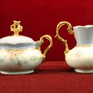 Antique CT Sugar bowl and Creamer Altwasser Germany