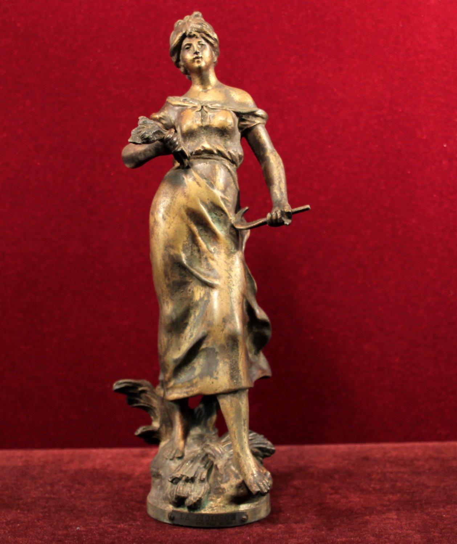Auguste Moreau  Statue La Moisson Lovely Maiden