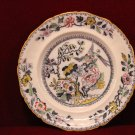 Ashworth Brothers Plate Asian Bird Design Colorful Made in England