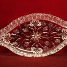 ABP Crystal Dish Diamond Cut Floral with Etched