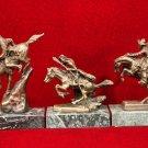 Remington Bronze  Desk Set Broncho Warrior Mountain Man