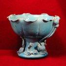 Chinese Blanc de Chine Pedestal Bowl Wai Ming Turquoise