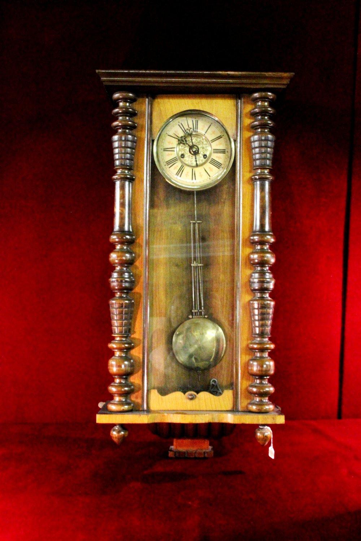 Antique Wall Clock Deutsches Reich Gebrachmuster German