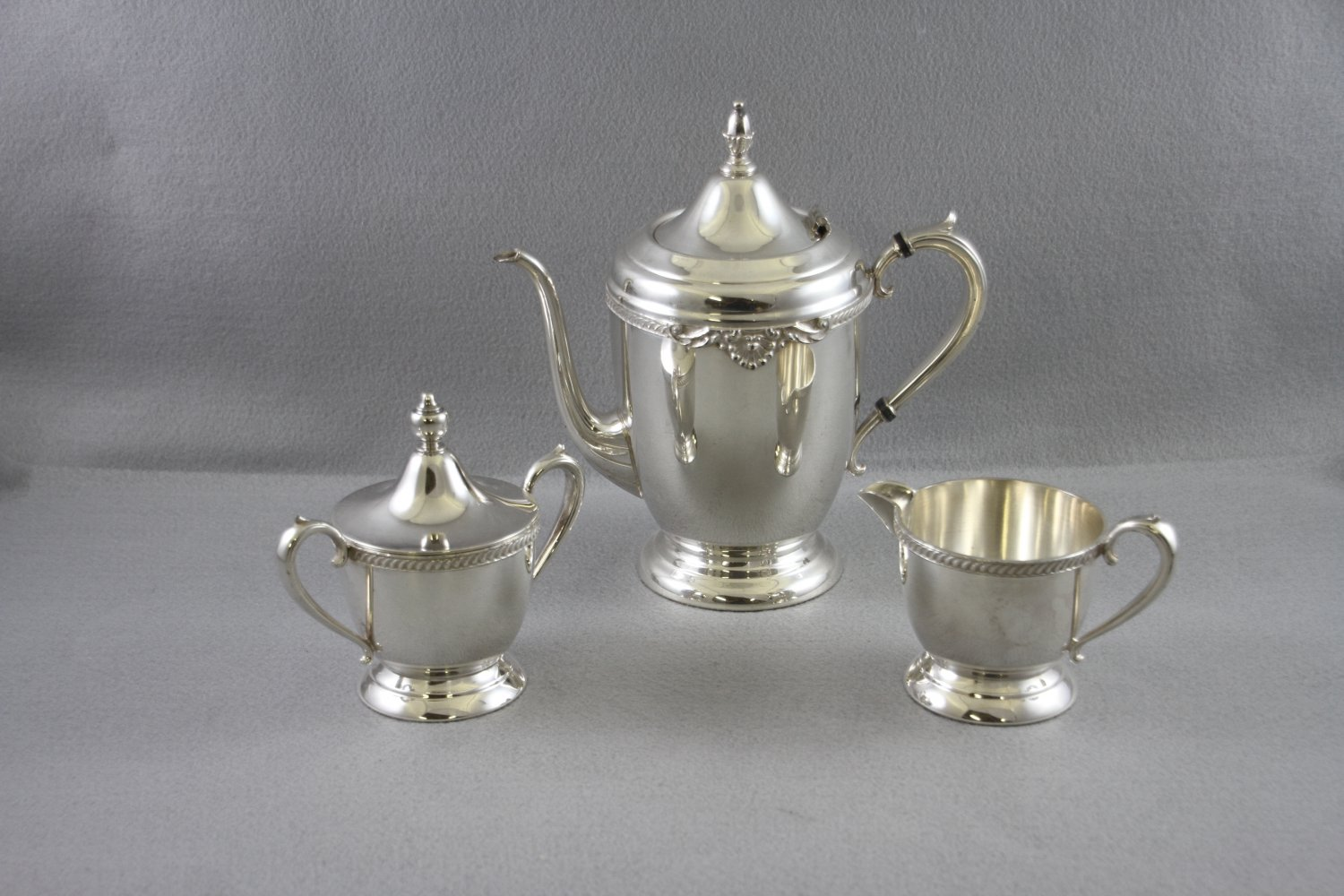 Sheets Rockford  Tea Pot Service Silver Plated