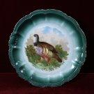 Antique PM Bavaria Game Plate Partridge Colorful