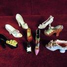 Porcelain Glass  Shoe Collection Ten Pieces