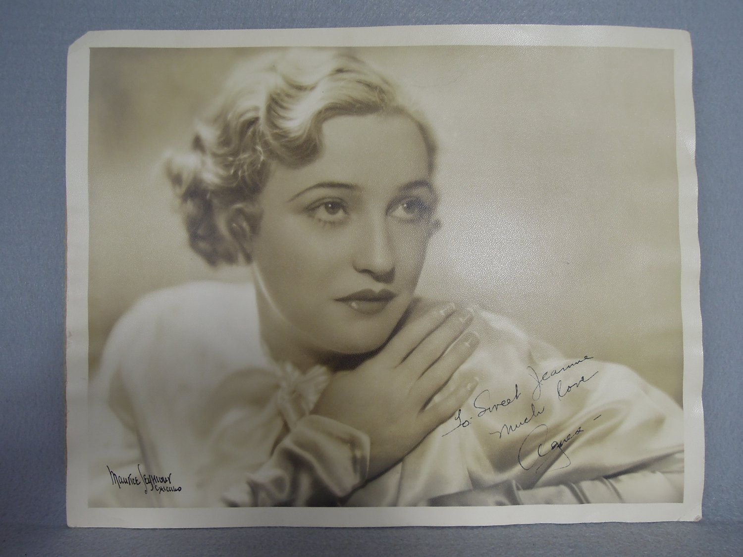 Maurice Seymour Photo Agnes Ayres Signed by both Collectible Large