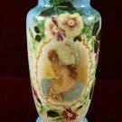 Portrait Vase Woman in Bonnet Bohemian