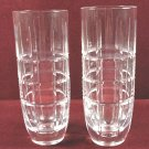 Pair of Stephens Crystal Vases Clear Tall