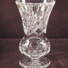 Gorham Cut Crystal Vase Thumbprint Fan Radiant Star 8 tall