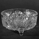 J  Horace Glass Footed Candy Dish Fans Hobstar