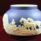Adams Tunstall Jasperware Bowl Hunting Scene