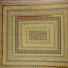Postage Stamp   Quilt Diamond Square Shapes Colorful
