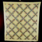 Quilt Triple Irish Chain Colorful Collectible Handmade Heirloom