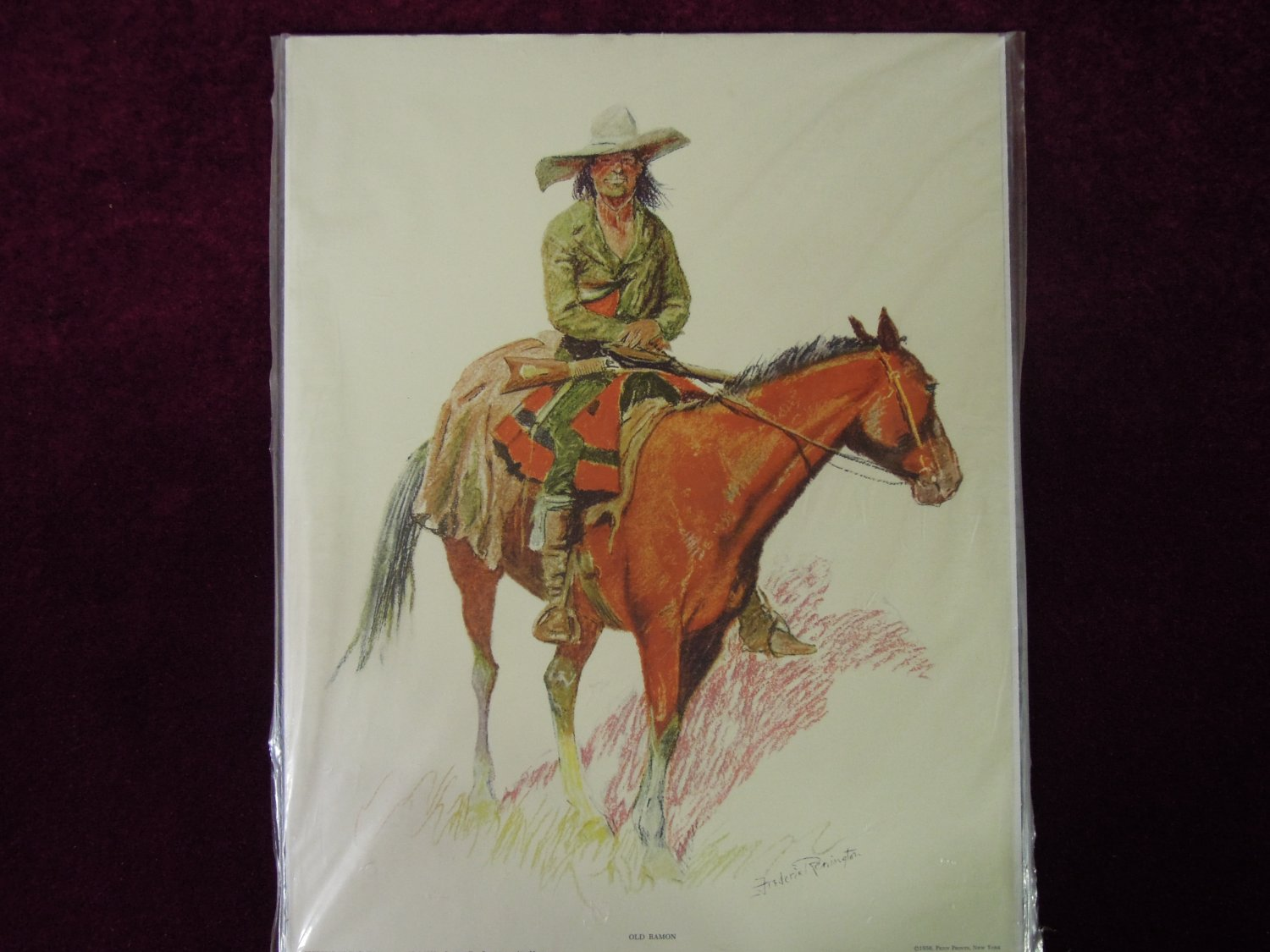 Frederick Remington Old Ramon 1956 Print Bunch of Buckskins Collection