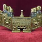 Large Turkish Style Brass Shoe Shine Stand with Foot Rest Ornate