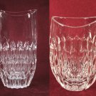 "Crystal Vases Pair Vintage 9"" Tall"