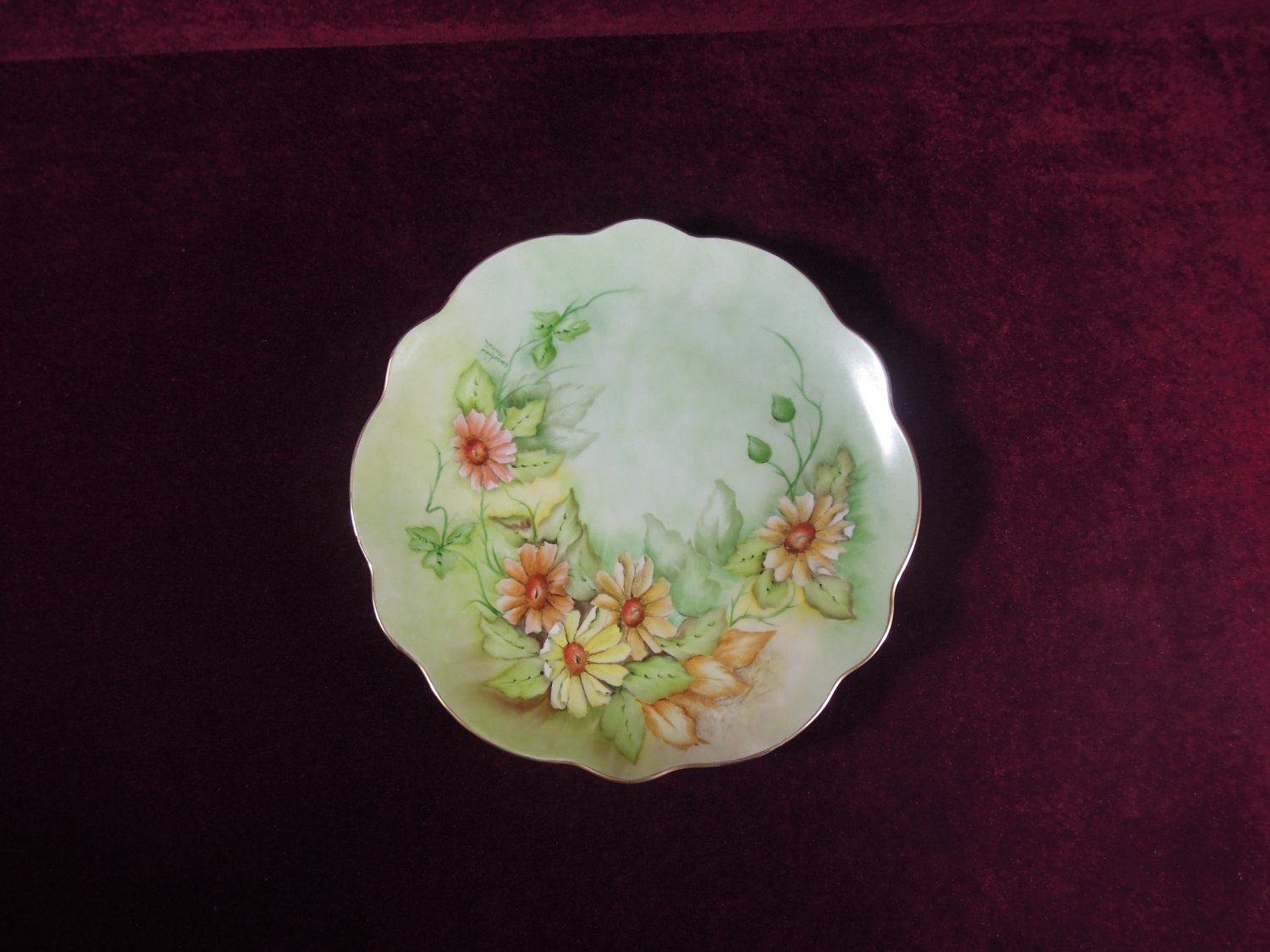 Porcelain  Cabinet  Plate  Hand painted Collectible Signed Caroline Minke