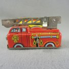 Yone Vintage Tin Fire Engine Truck  Windup Toy No 2038  Japan