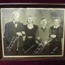 Andy Hardy Family Photo Autographed Framed Collectible