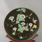 Chinese Cloisonné Brass Plate Floral design