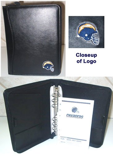 Wholesale 10 San Diego Chargers Leather Embroidered Organizers
