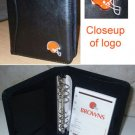 Cleveland Browns Leather Embroidered Black Organizer