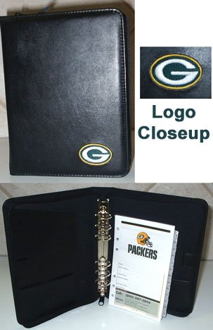 Green Bay Packers Leather Embroidered Organizer