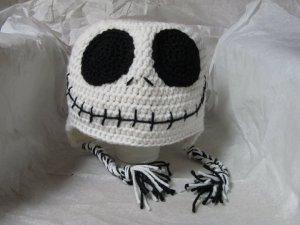 skeleton nightmare before christmas Crochet hat