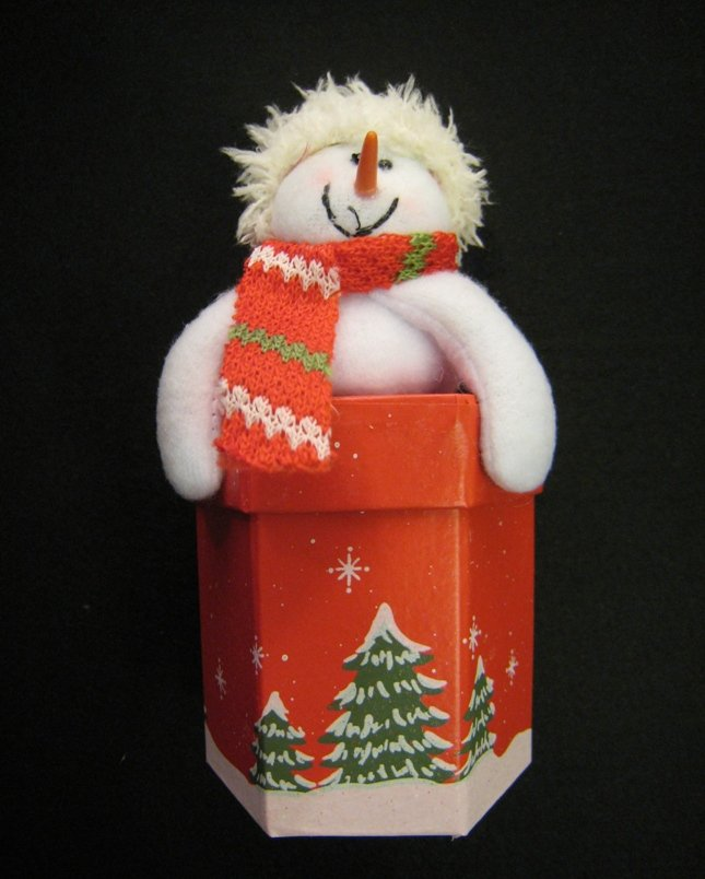 Christmas item - Snowman Gift Box (Hexagon)