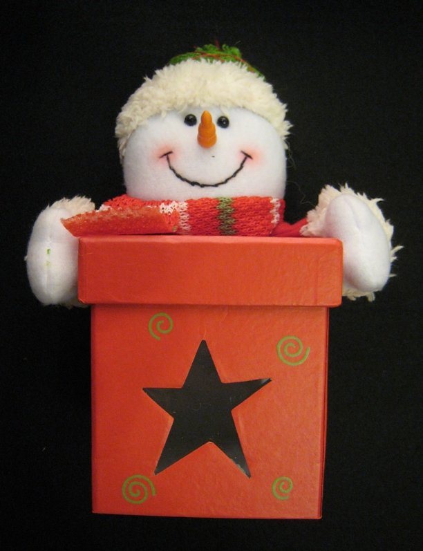 Christmas item - Snowman Gift Box (Square)