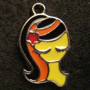 Virgo Pendant (Black/Orange)