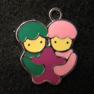 Gemini Pendant (Green/Pink)