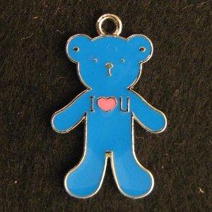 Bear Pendant (Blue)