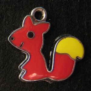 Squirrel Pendant (Red/Yellow)