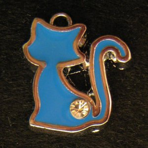 Cat Pendant (Blue)
