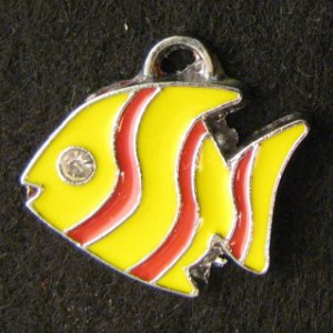 Fish Pendant (Yellow/Red)