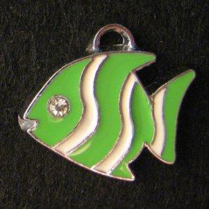 Fish Pendant (Green/White)