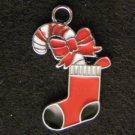 Christmas Sock Pendant (Red/Black)