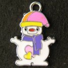 Snowman Pendant (Purple)