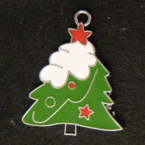 ChristmasTree Pendant (L) (White/Red)