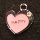 Heart Pendant (Happy / Pink)