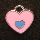 Double Heart Pendant (Pink / Light blue)